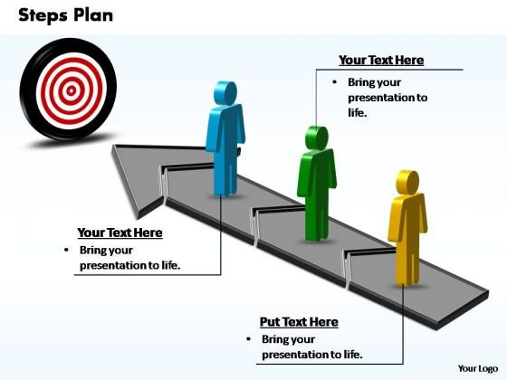 PowerPoint Slide Graphic Steps Plan 3 Stages Style 3 Ppt Theme