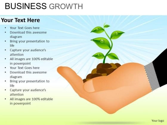 PowerPoint Slide Growth Business Growth Ppt Slide