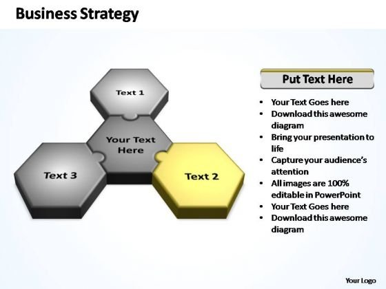 PowerPoint Slide Growth Business Strategy Puzzle Ppt Slides