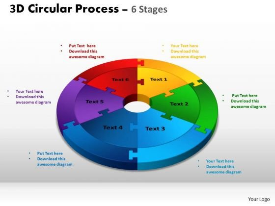 PowerPoint Slide Growth Circular Process Cycle Ppt Template