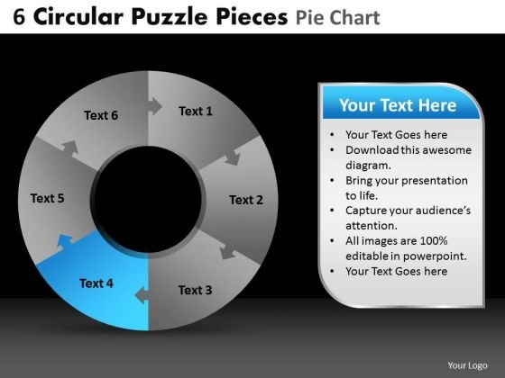 PowerPoint Slide Growth Circular Puzzle Ppt Process