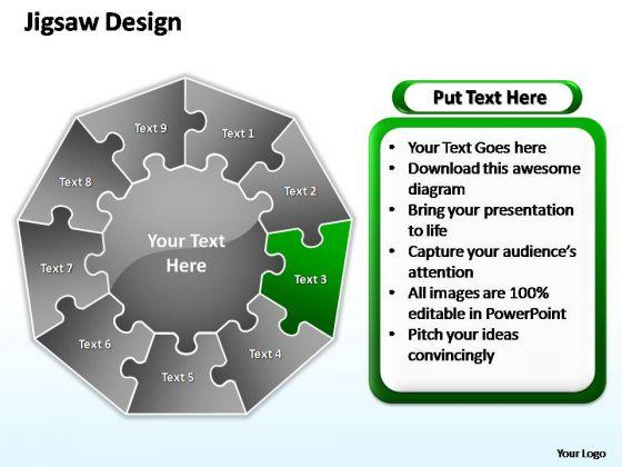 PowerPoint Slide Growth Jigsaw Format Ppt Slide Designs