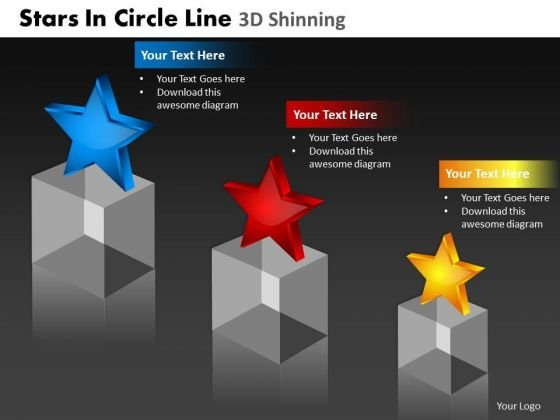 PowerPoint Slide Growth Stars In Circle Ppt Presentation