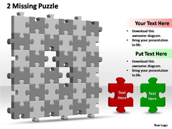 PowerPoint Slide Image 6x6 Missing Puzzle Piece Template Ppt Designs