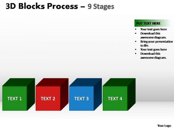 PowerPoint Slide Image Blocks Process Ppt Theme