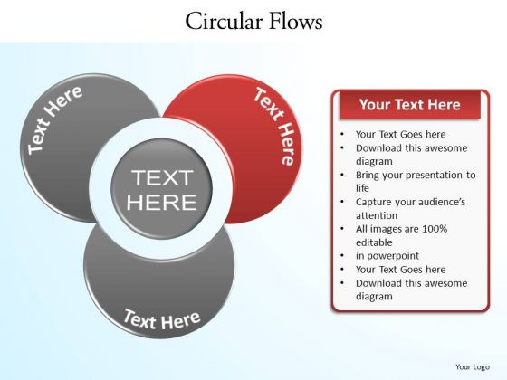 PowerPoint Slide Layout Chart Circular Flow Ppt Design