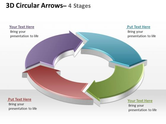 PowerPoint Slide Layout Company Circular Arrows Ppt Slides