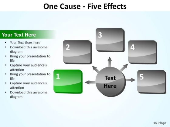 PowerPoint Slide Layout Diagram Five Effects Ppt Presentation