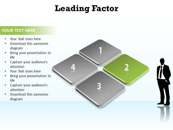 PowerPoint Slide Layout Diagram Leading Factor Ppt Slide