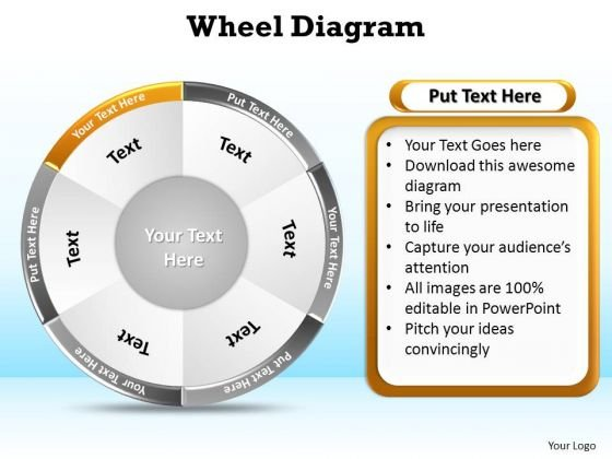PowerPoint Slide Layout Diagram Wheel Diagram Ppt Backgrounds
