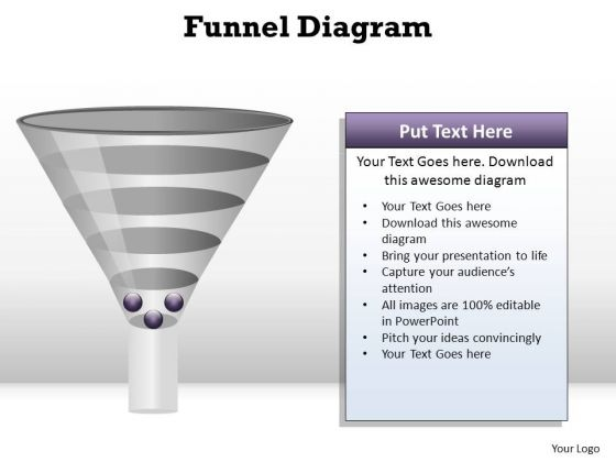 PowerPoint Slide Layout Global Funnel Diagram Ppt Template