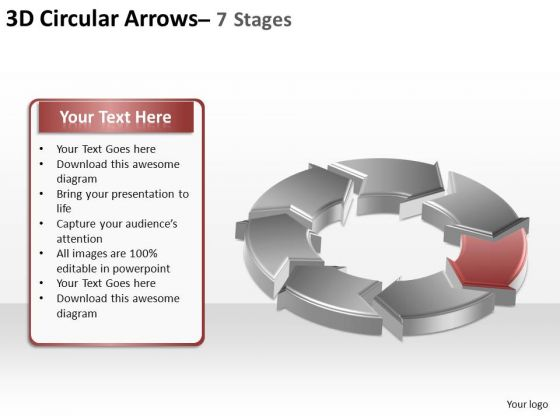 PowerPoint Slide Layout Image Circular Arrows Ppt Template