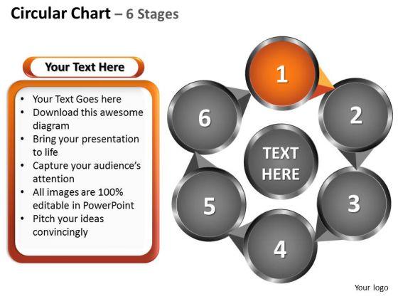 PowerPoint Slide Layout Leadership Circular Ppt Slide
