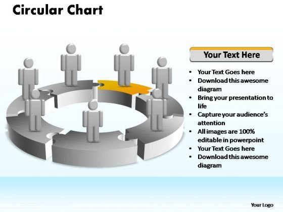 PowerPoint Slide Layout Leadership Circular Ppt Template