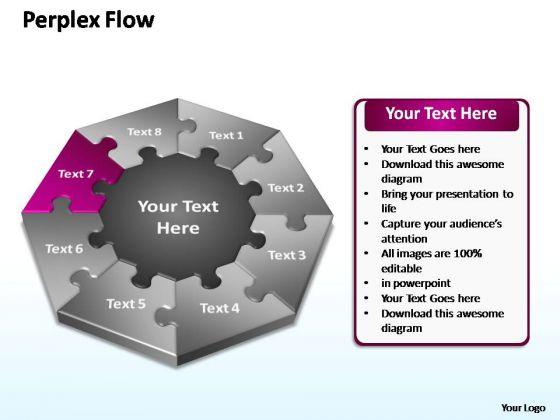 PowerPoint Slide Layout Leadership Perplex Flow Ppt Presentation
