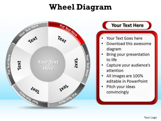 PowerPoint Slide Layout Leadership Wheel Diagram Ppt Slides