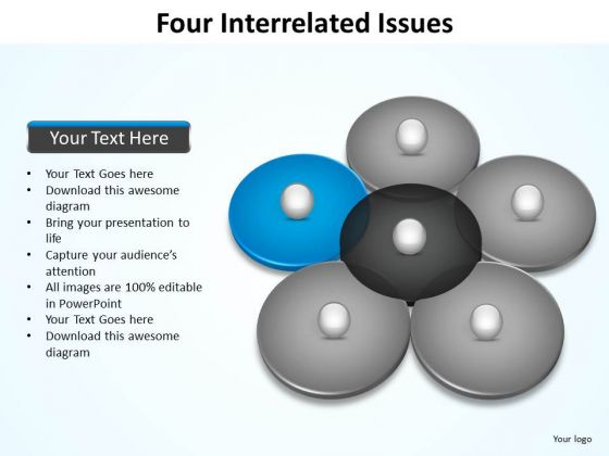 PowerPoint Slide Layout Process Four Interrelated Ppt Designs