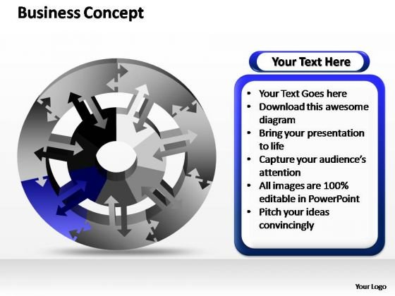 PowerPoint Slide Layout Strategy Business Concept Ppt Slides
