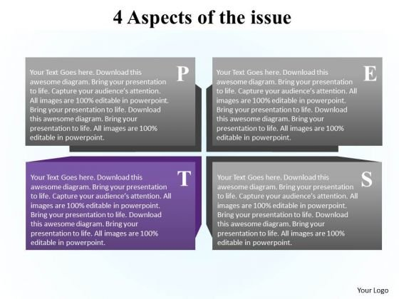 PowerPoint Slide Layout Success Aspects Ppt Template