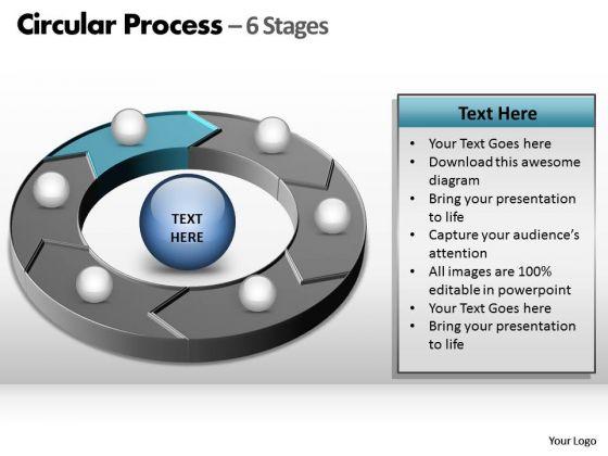 PowerPoint Slide Layout Teamwork Circular Process Ppt Backgrounds