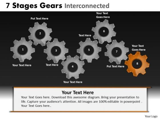 PowerPoint Slide Leadership Gears Ppt Process