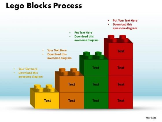 PowerPoint Slide Lego Blocks Process Business Ppt Slides