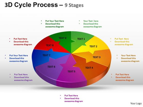 PowerPoint Slide Marketing Cycle Process Flow Ppt Template