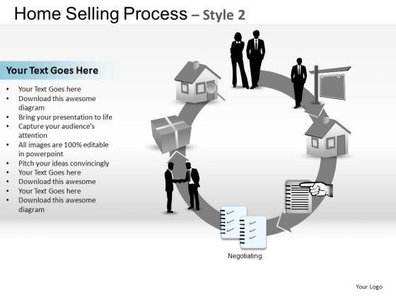 PowerPoint Slide Marketing Home Selling Ppt Template