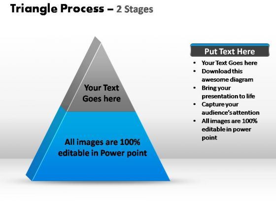 PowerPoint Slide Marketing Triangle Process Ppt Slide