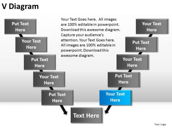 PowerPoint Slide Marketing V Diagram Ppt Themes