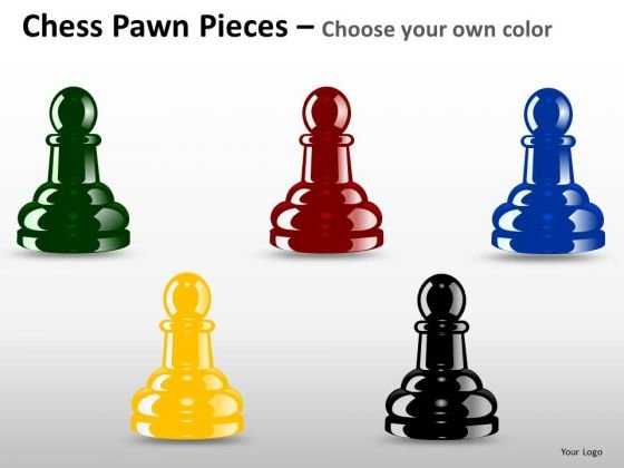 PowerPoint Slide Process Chess Pawn Ppt Slides