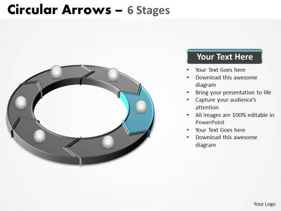 PowerPoint Slide Process Circular Arrows Ppt Template