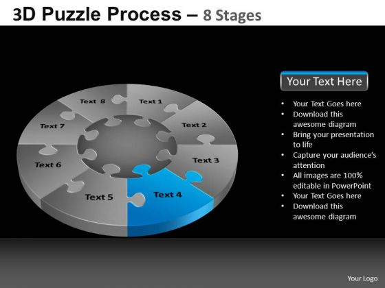 PowerPoint Slide Process Pie Chart Puzzle Process Ppt Slidelayout