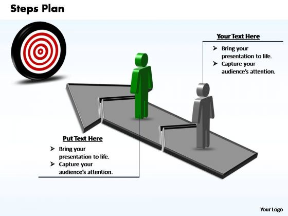 PowerPoint Slide Process Steps Plan 2 Stages Style 3 Ppt Slides