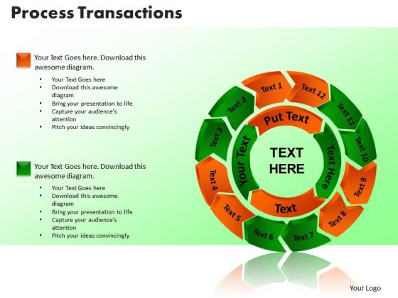 PowerPoint Slide Process Transaction Business Ppt Backgrounds