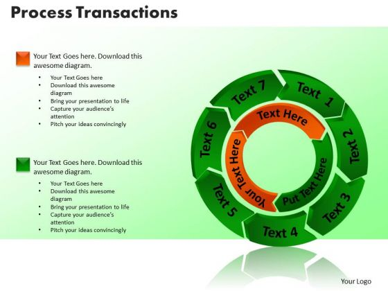 PowerPoint Slide Process Transaction Business Ppt Themes