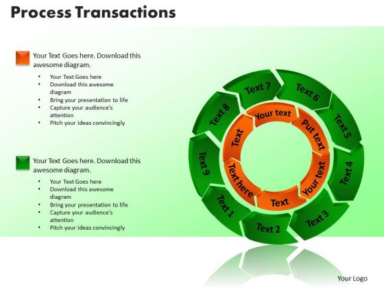 PowerPoint Slide Process Transaction Marketing Ppt Templates