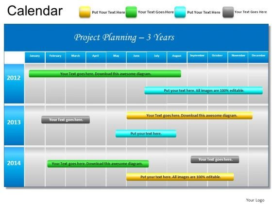 PowerPoint Slide Project Planning Gantt Chart Ppt Templates ...