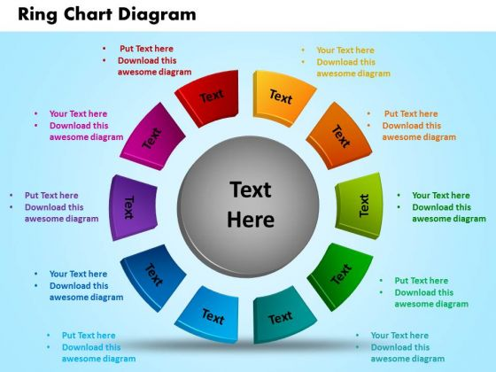 PowerPoint Slide Ring Chart Diagram Business Ppt Themes