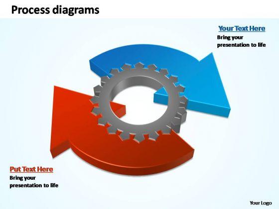PowerPoint Slide Sales Business Process Geared Diagram Ppt Slide