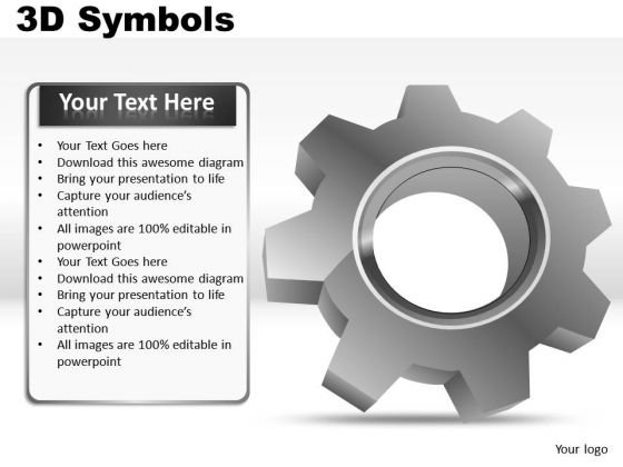 PowerPoint Slide Showing Gears Symbol Ppt Diagrams