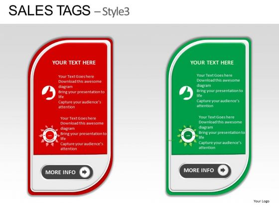 PowerPoint Slide Showing Sales Tag Diagram