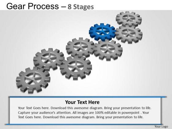PowerPoint Slide Strategy Gears Process Ppt Design