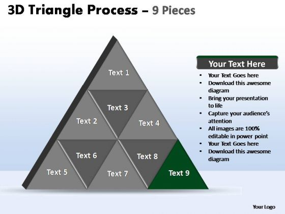 PowerPoint Slide Strategy Triangle Process Ppt Template