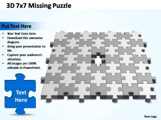 PowerPoint Slide Success 7x7 Missing Puzzle Piece Template Ppt Designs