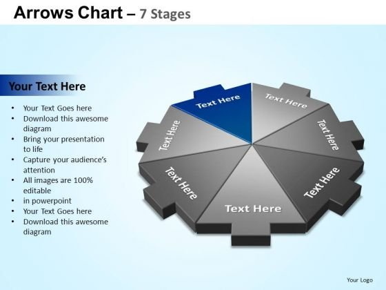 PowerPoint Slide Success Arrows Chart Ppt Backgrounds