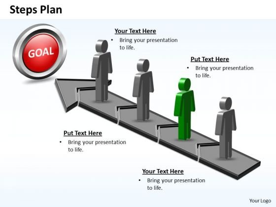 PowerPoint Slide Success Steps Plan 4 Stages Style 5 Ppt Presentation