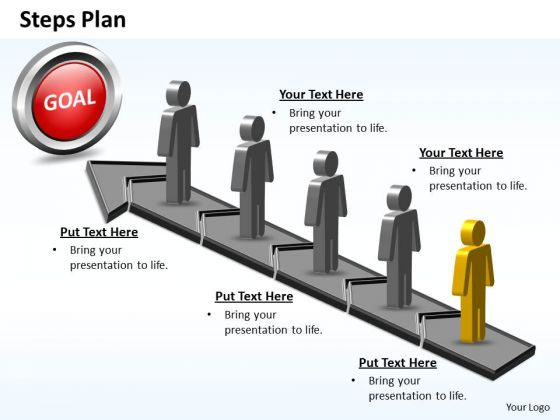 PowerPoint Slide Success Steps Plan 5 Stages Style 5 Ppt Template