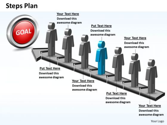 PowerPoint Slide Success Steps Plan 7 Stages Style 5 Ppt Template