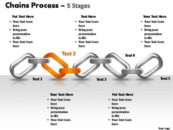 PowerPoint Slide Teamwork Chains Process Ppt Theme